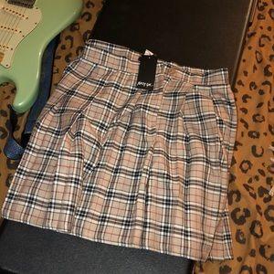 NastyGal pleated skirt NWT
